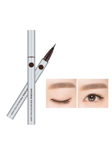 Missha Natural Fix Brush Pen Liner (Brown) Kahve
